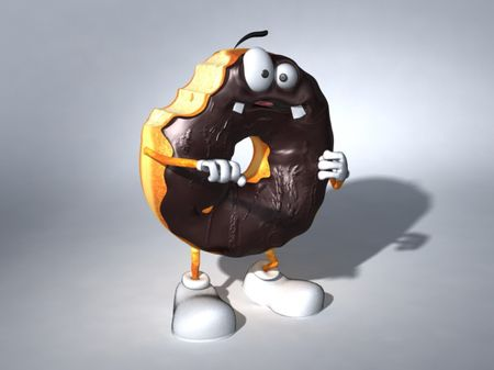 3D Donuts cartoon characters