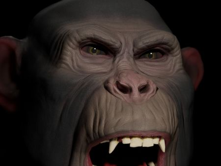 Monkey Bust 3D game character face
