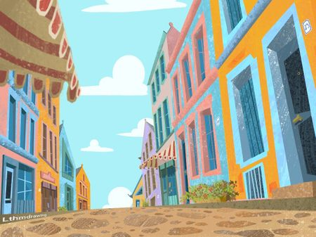 The Colorful Town