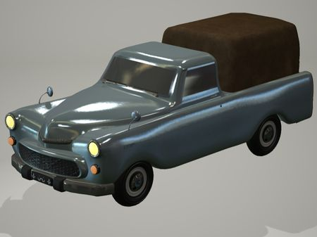 FSO Warszawa 223 Pick-up (1962) 3D Model