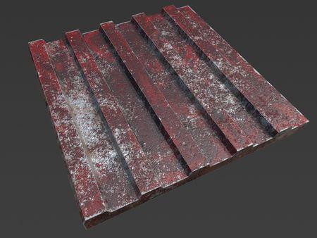Modular Wall - Rusting Corrugated Metal