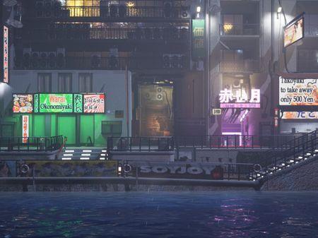 Osaka. Dotonbori Promenade