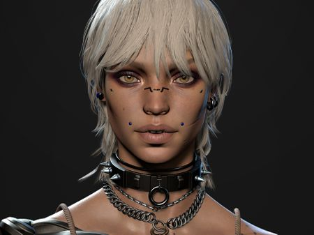 VANTA - Cyberpunk Character