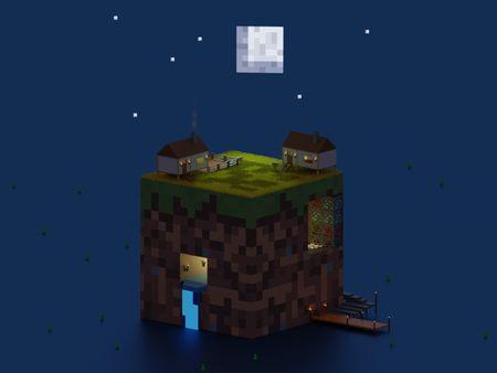 Minecraft Blocky Render