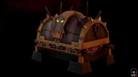 Troll treasure chest (game-ready model)