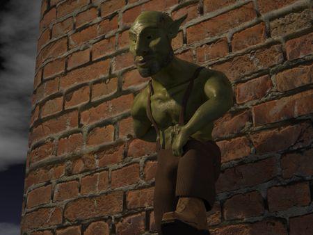 A beautiful goblin man