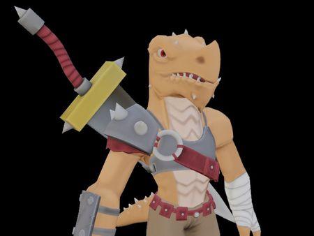 Stilized Draconid warrior