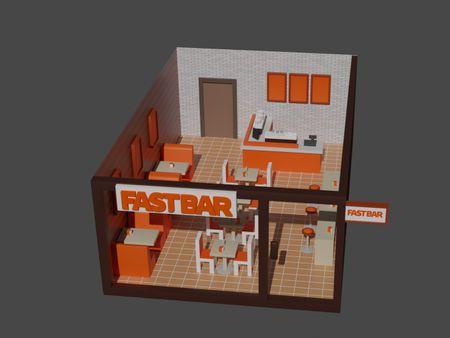 Stylized restaurant