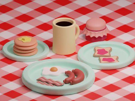 Stylized breakfast