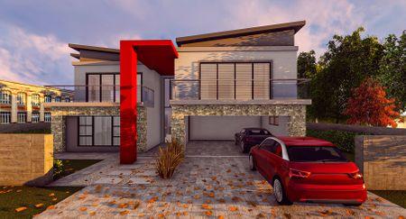 Parklands estate house exterior 3D visual