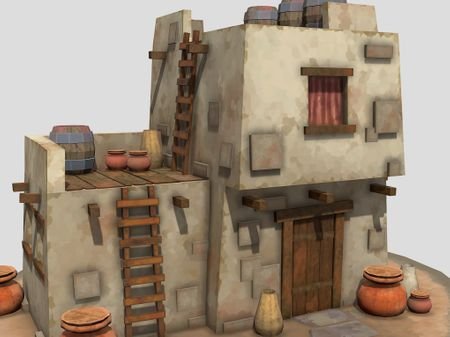 Low Poly Desert House