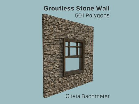 Groutless Stone Wall