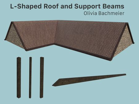 L-Shaped Roof and Support Beams