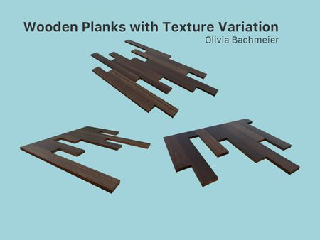 Wooden Planks with Texture Variation