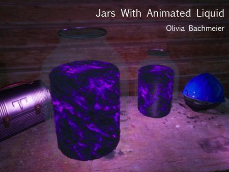 Jars With Animated Liquid