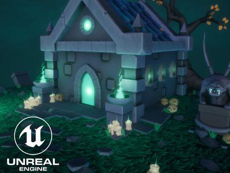 Stylized unholy crypt - UE4