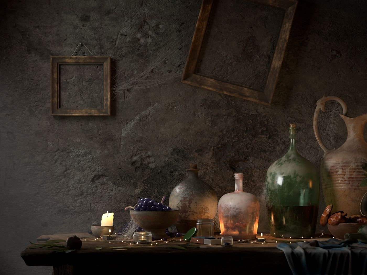 Baroque Still life - CGI