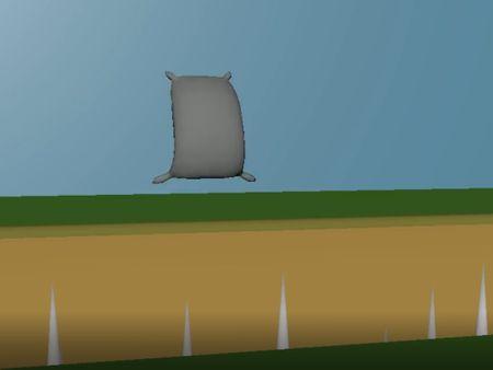 Animación almohada saltando