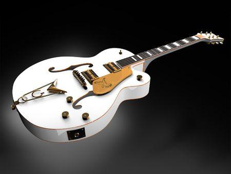 "3D Model Electric Guitar ""Gretsch White Falcon"""