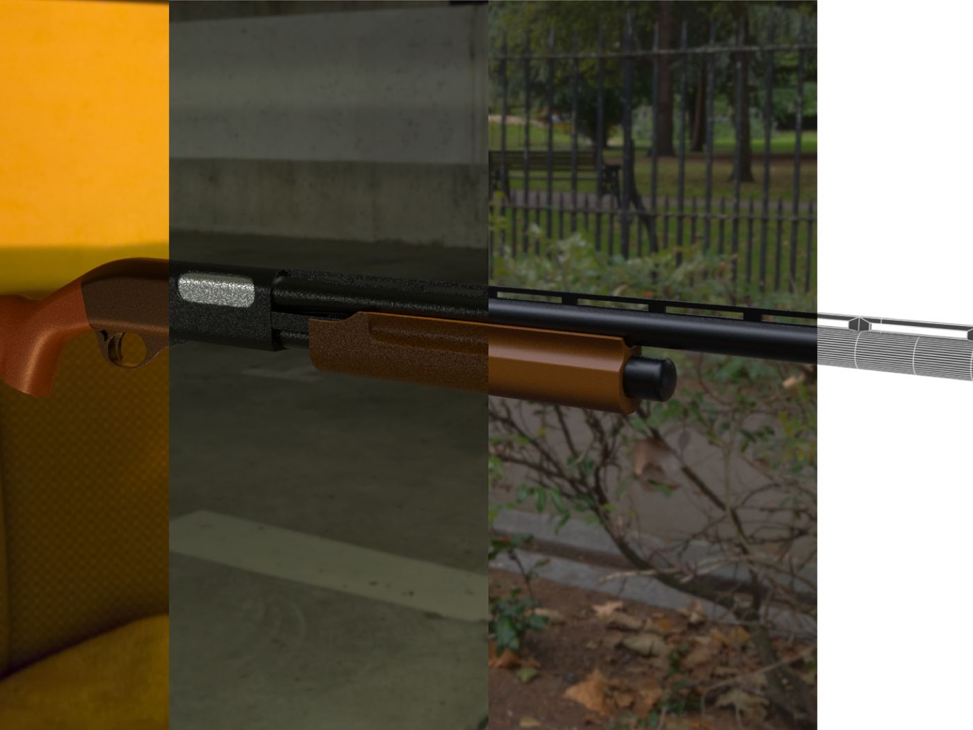 Remington 870 3D Model.