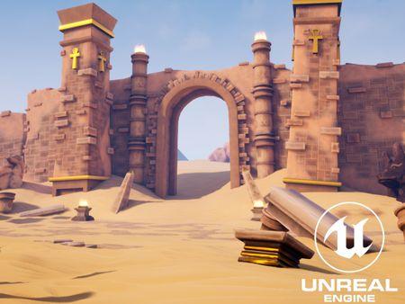 Stylized 3D Environment - Lepthi Desert Ruins