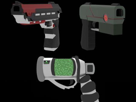 Stylized gun models