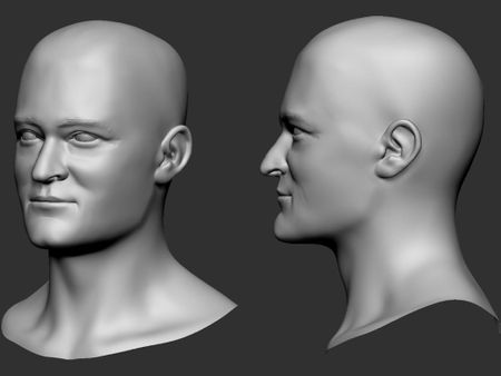 Orlando Bloom Head Sculpt Study