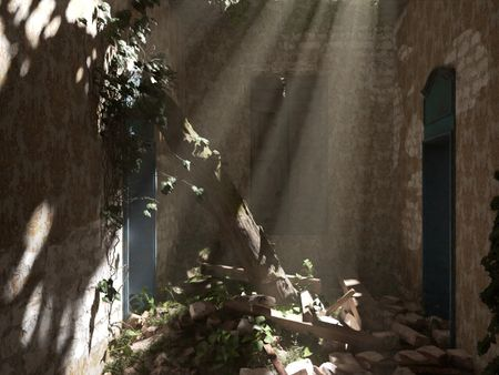 Abandoned house (In the rubble) Environnement 3D