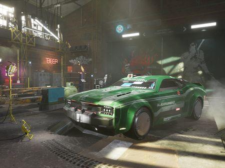 Cyberpunk Garage