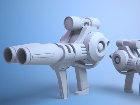 Hard Surface Gun Modeling