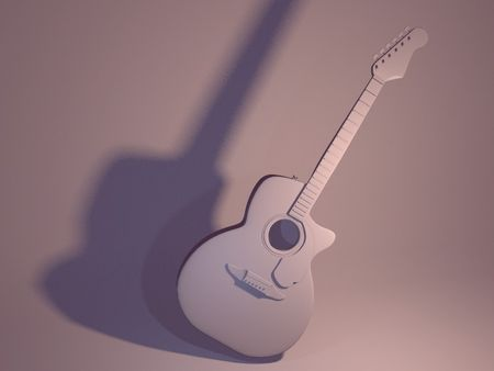 High poly guitar and lighting test