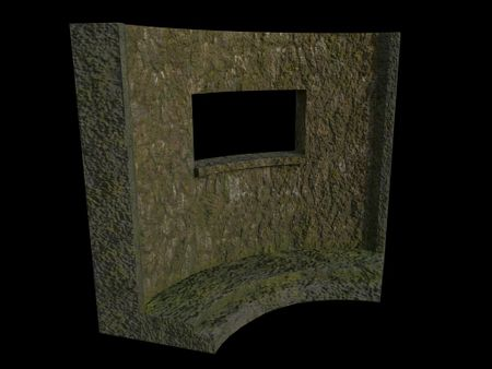 Stone Modular Wall - Rectangle Window