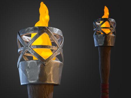 Fire Torch - Game Asset