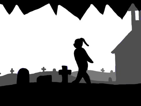 Horror silhouette animation short