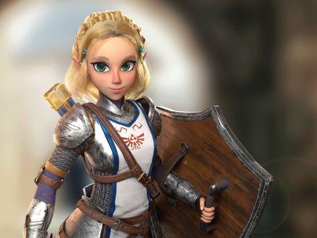 Zelda 3D Artwork