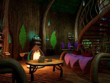 FMP Elvish Treehouse Interior Environment