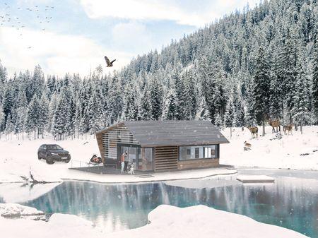 Winter Cabin Arch Viz Project
