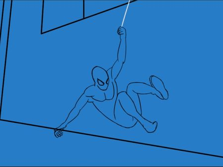 Spider-Man web swimming rotoscopy