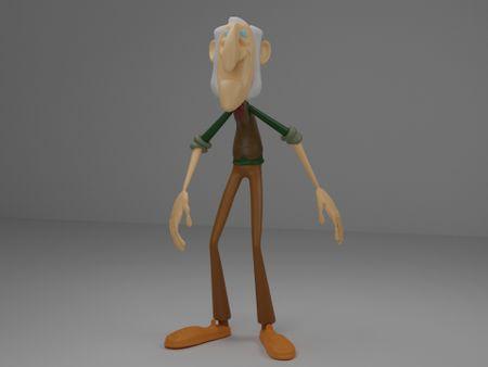 Cartoon Old man sculpture