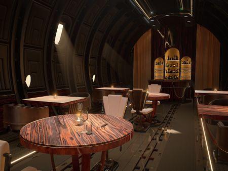 "Art Deco Airplane Bar & Restaurant | ""Miles Santino's High Club"" | Trevin Dahl"