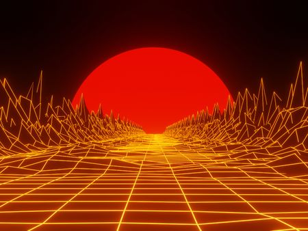 80's style visuals