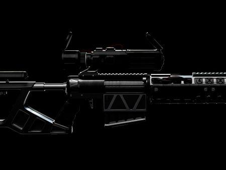 Sci-Fi Sniper [SR-34P] Asset design
