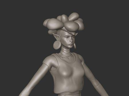 Princess Barin  realtime game character