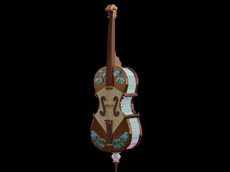 3D violoncello