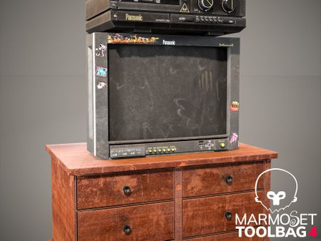 Old CRT TV and VHS PLAYER.