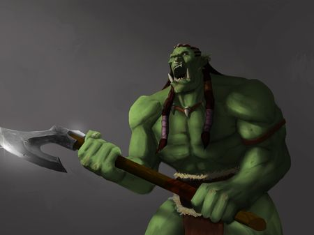 Orc Warrior Character design