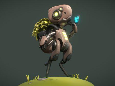 Stylized character - Ecobot