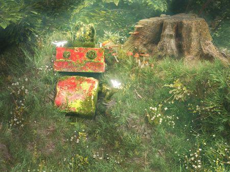 Cute Robot forgotten in nature