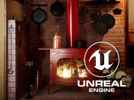 Intermediate Final Project: Fireplace in a Cabin