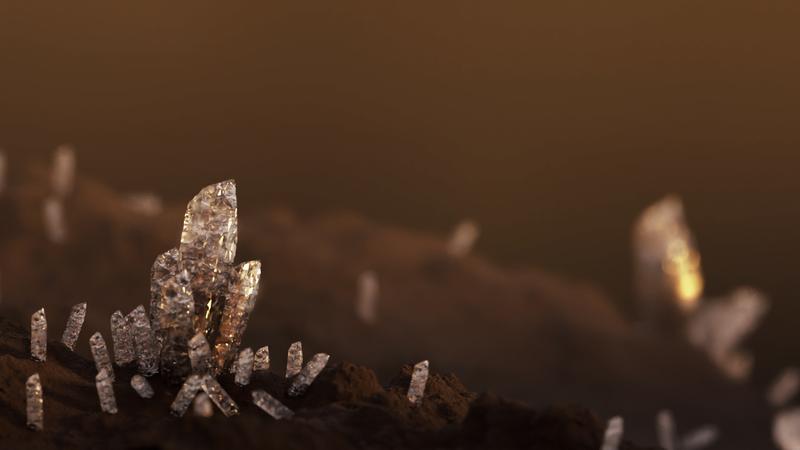 Les cristaux d'en haut. || Procedural Crystal